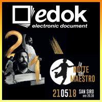 """Edok sponsor dell'evento """"La notte del Maestro"""""""