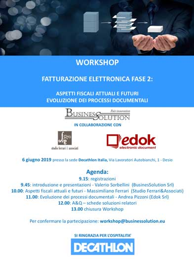 Workshop Fattura Elettronica