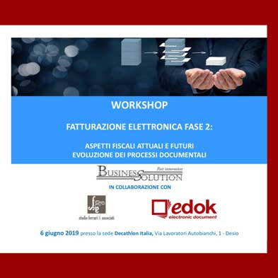 workshop fatturazione elettronica
