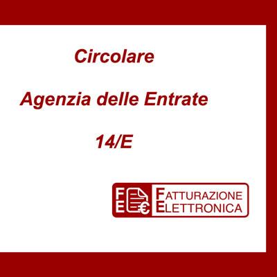 Circolare Agenzia delle Entrate 14/e